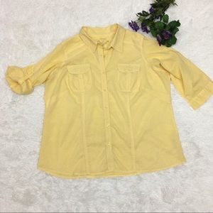 Sonoma Yellow L/S blouse size 1X